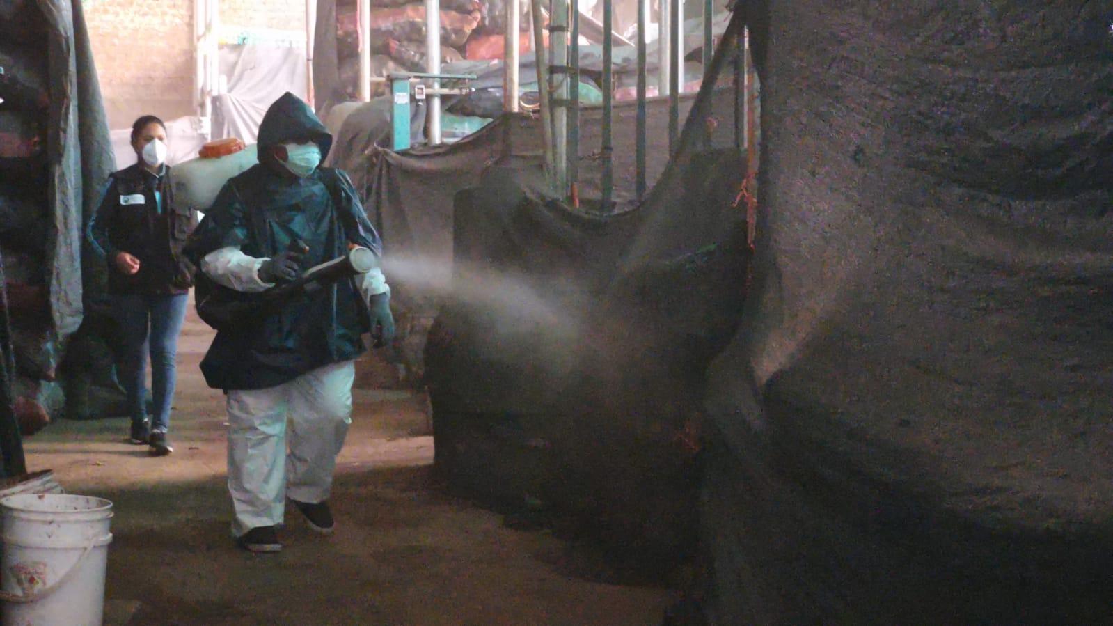 Se realizaron trabajos de desinfección en el mercado Nery García