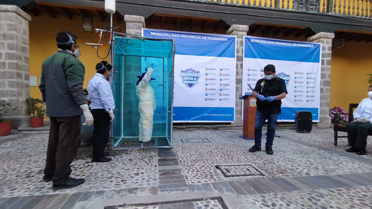 """Instalarán cámaras de desinfección """"Chuya""""  en Huamanga"""