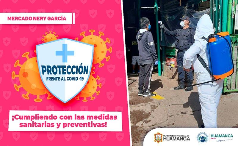 El mercado Nery García cumple  con medidas sanitarias