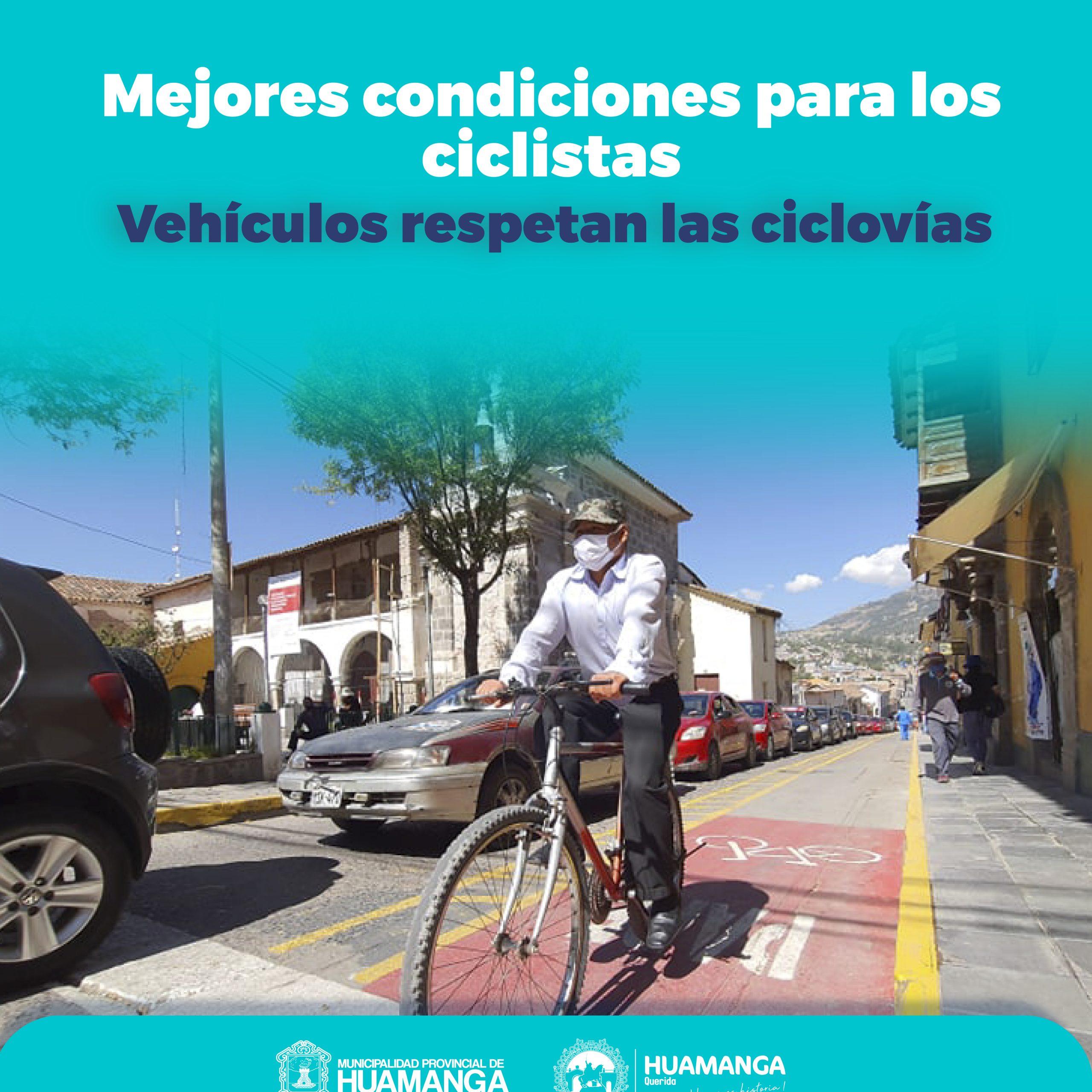Plan de integración de ciclovías con transporte urbano en Huamanga
