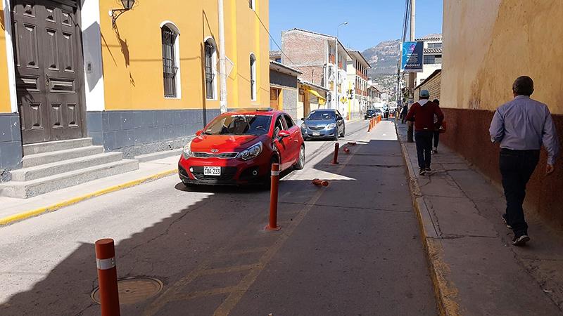 Sanción ejemplar para conductores que dañen las ciclovías