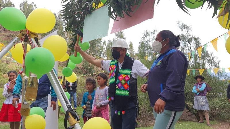 Riego tecnificado para la Comunidad Campesina de Chasqui - Acos Vinchos