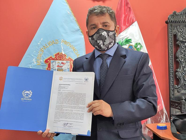 Alcalde de Huamanga solicita priorización de vacunas para nuestra región