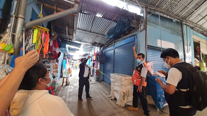 Inspeccionan instalaciones del mercado Santa Clara