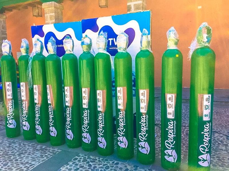 Municipalidad de Huamanga pone a disposición de la ciudadanía 14 balones de oxígeno