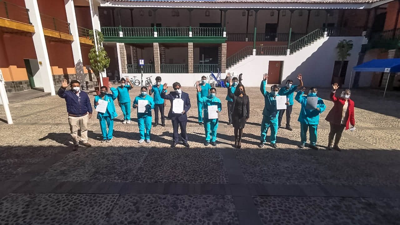 Reconocen a jóvenes voluntarios de la Municipalidad de Huamanga