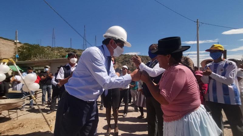 Inicio mantenimiento del camino vecinal que une San Martín de Paraíso y Mollepata