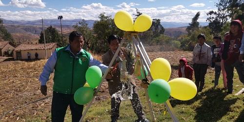 Inauguran sistema de riego tecnificado en Chasqui