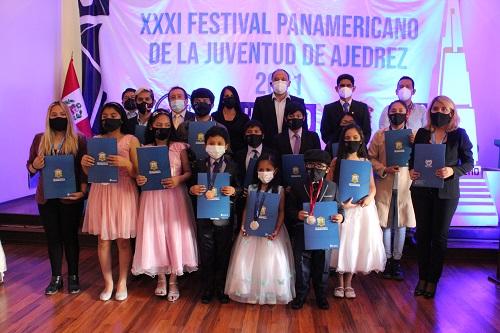 Concluye con éxito XXXI Festival Panamericano de Ajedrez de la Juventud 2021